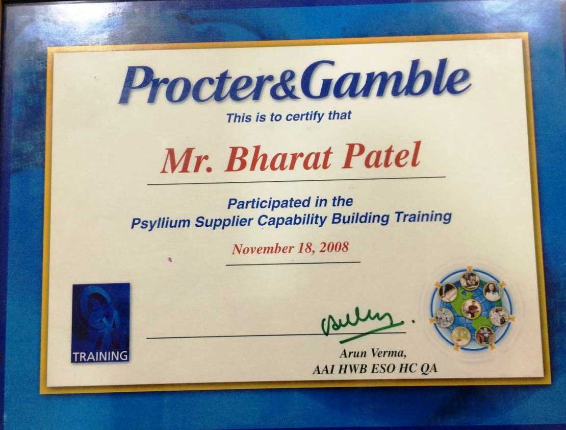 PG TRAINING CERTIFICATE