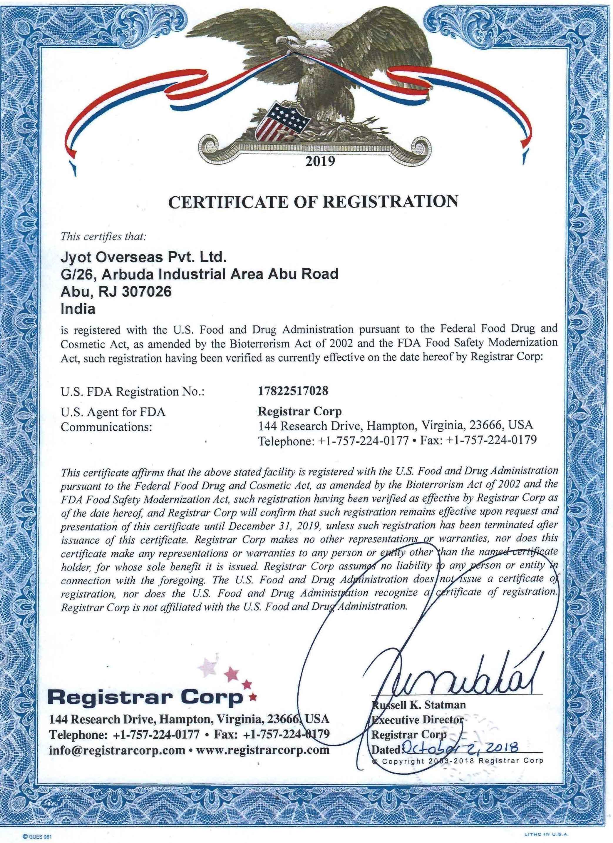 FDA-REGISTRATION